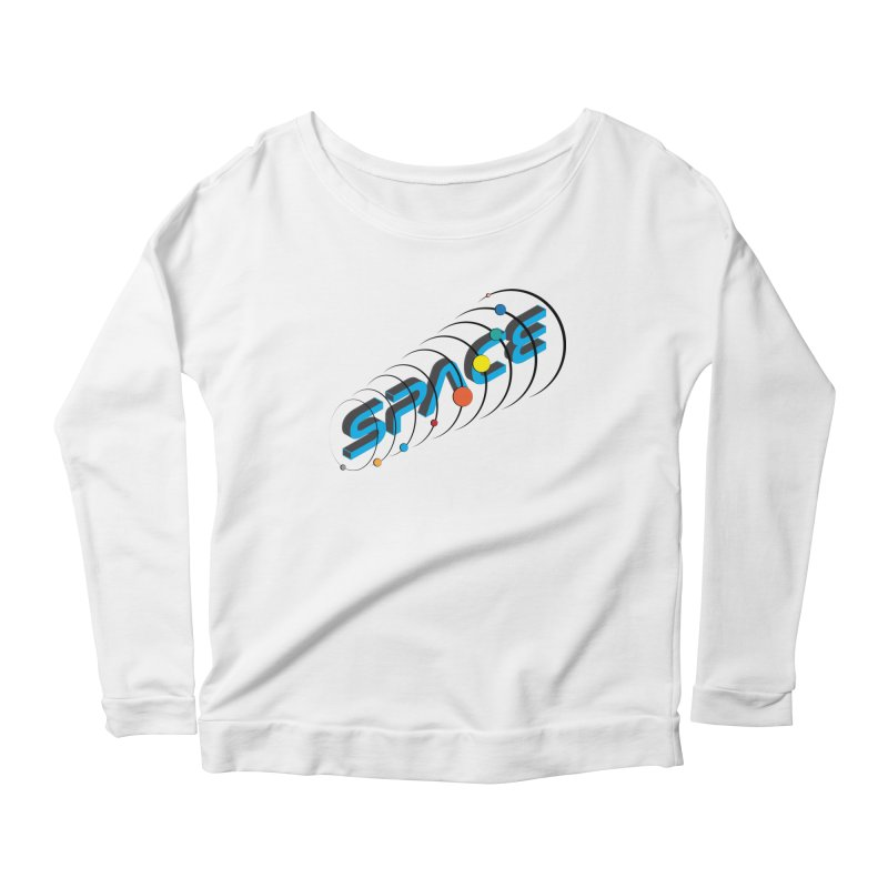 Space System Orbit Women's Scoop Neck Longsleeve T-Shirt by Photon Illustration's Artist Shop