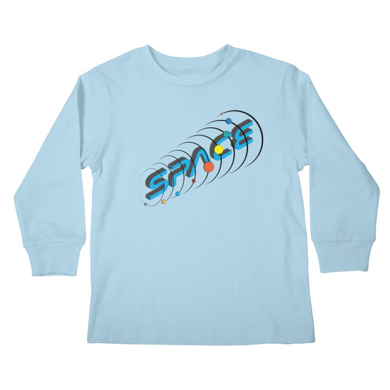 Space System Orbit Kids Longsleeve T-Shirt by Photon Illustration's Artist Shop