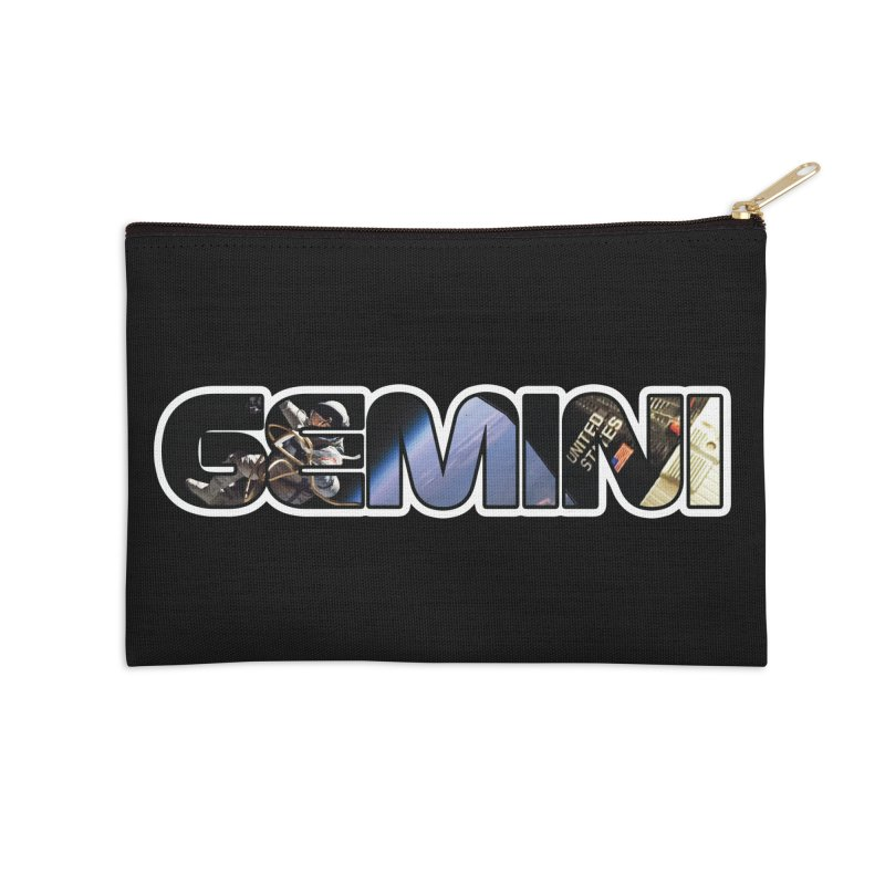 Gemini Spacewalk Accessories Zip Pouch by Photon Illustration's Artist Shop
