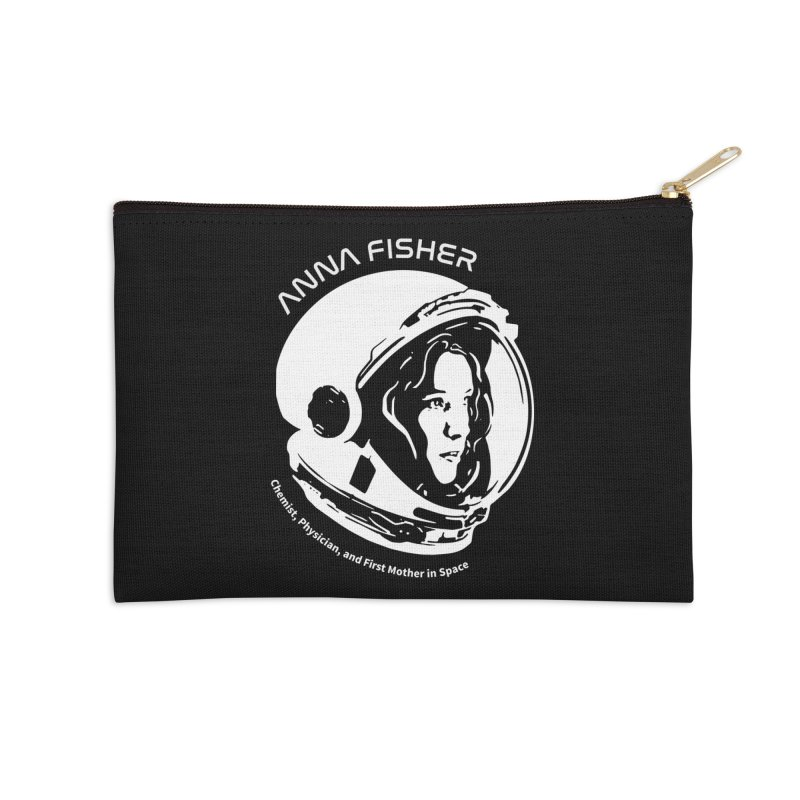 Women in Space: Anna Fisher Accessories Zip Pouch by Photon Illustration's Artist Shop
