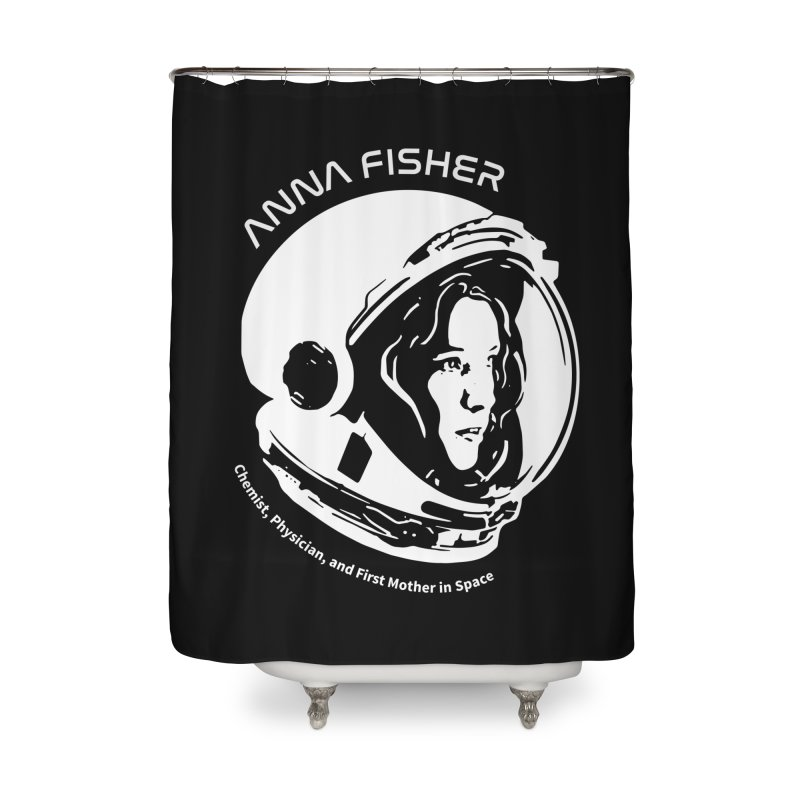 Women in Space: Anna Fisher Home Shower Curtain by Photon Illustration's Artist Shop