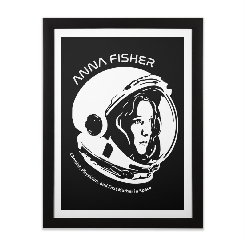 Women in Space: Anna Fisher Home Framed Fine Art Print by Photon Illustration's Artist Shop