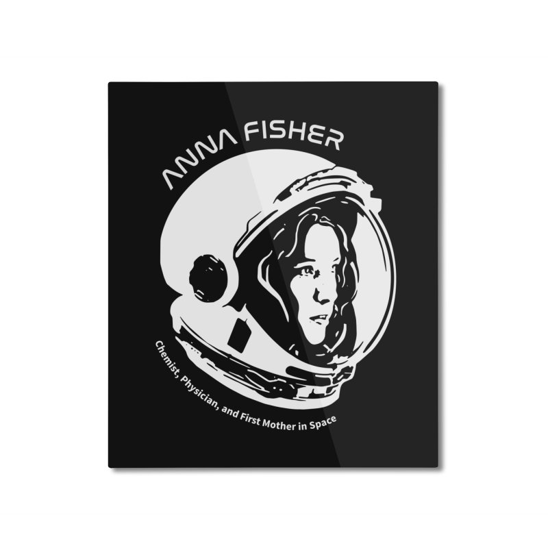 Women in Space: Anna Fisher Home Mounted Aluminum Print by Photon Illustration's Artist Shop