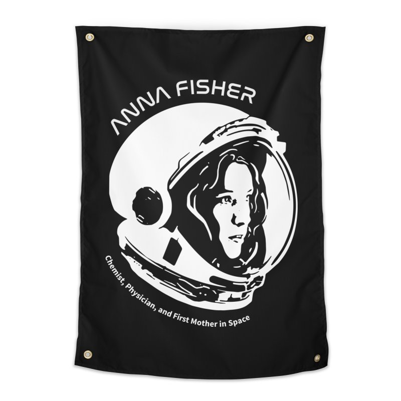 Women in Space: Anna Fisher Home Tapestry by Photon Illustration's Artist Shop