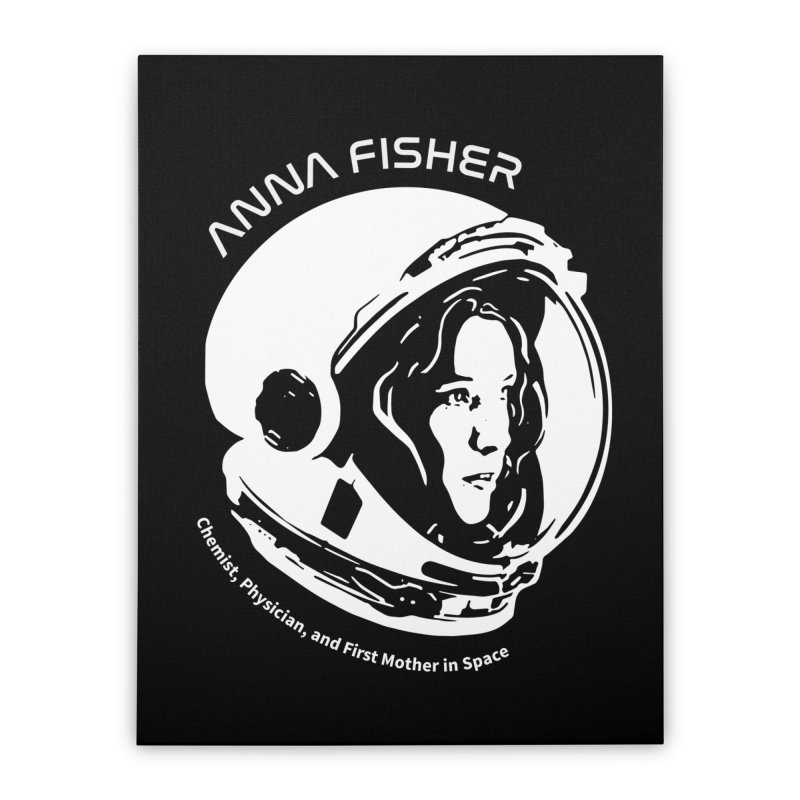 Women in Space: Anna Fisher Home Stretched Canvas by Photon Illustration's Artist Shop