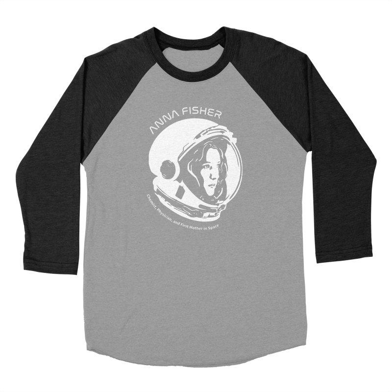 Women in Space: Anna Fisher Men's Baseball Triblend Longsleeve T-Shirt by Photon Illustration's Artist Shop