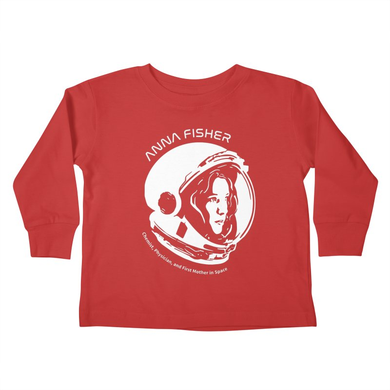 Women in Space: Anna Fisher Kids Toddler Longsleeve T-Shirt by Photon Illustration's Artist Shop