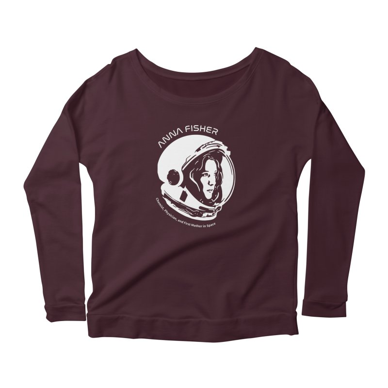 Women in Space: Anna Fisher Women's Scoop Neck Longsleeve T-Shirt by Photon Illustration's Artist Shop