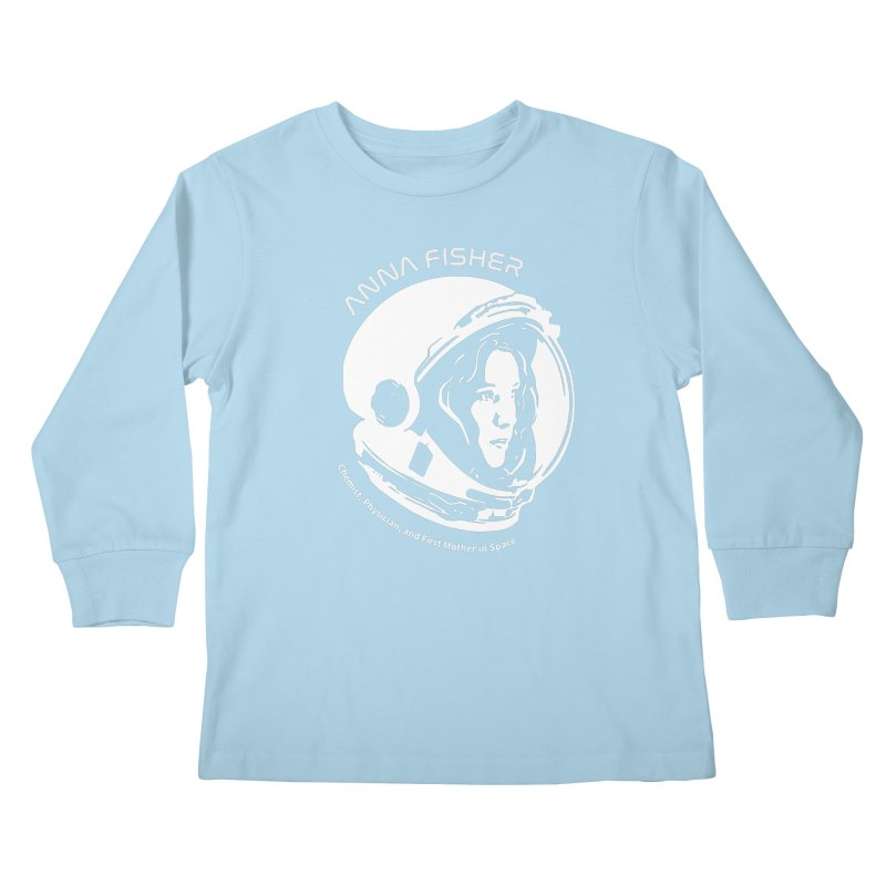 Women in Space: Anna Fisher Kids Longsleeve T-Shirt by Photon Illustration's Artist Shop
