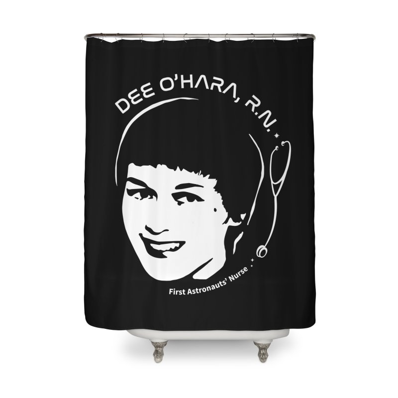 Women in Space: Dee O'Hara Home Shower Curtain by Photon Illustration's Artist Shop