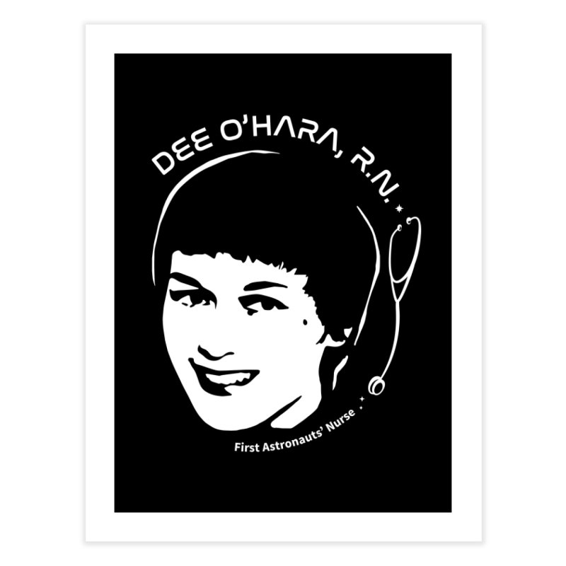 Women in Space: Dee O'Hara Home Fine Art Print by Photon Illustration's Artist Shop