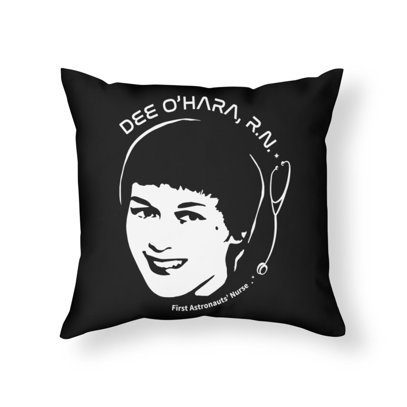 Women in Space: Dee O'Hara Home Throw Pillow by Photon Illustration's Artist Shop