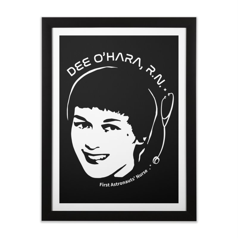 Women in Space: Dee O'Hara Home Framed Fine Art Print by Photon Illustration's Artist Shop