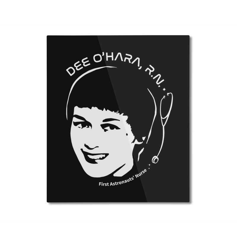 Women in Space: Dee O'Hara Home Mounted Aluminum Print by Photon Illustration's Artist Shop