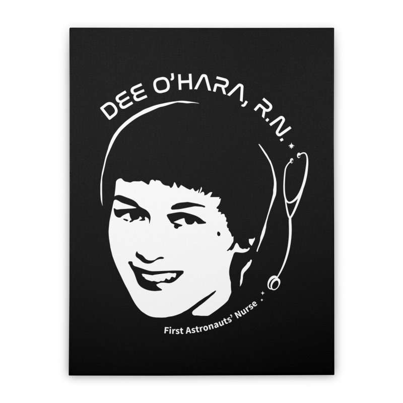 Women in Space: Dee O'Hara Home Stretched Canvas by Photon Illustration's Artist Shop