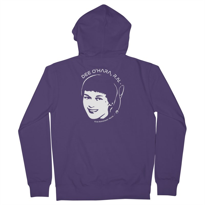 Women in Space: Dee O'Hara Women's French Terry Zip-Up Hoody by Photon Illustration's Artist Shop