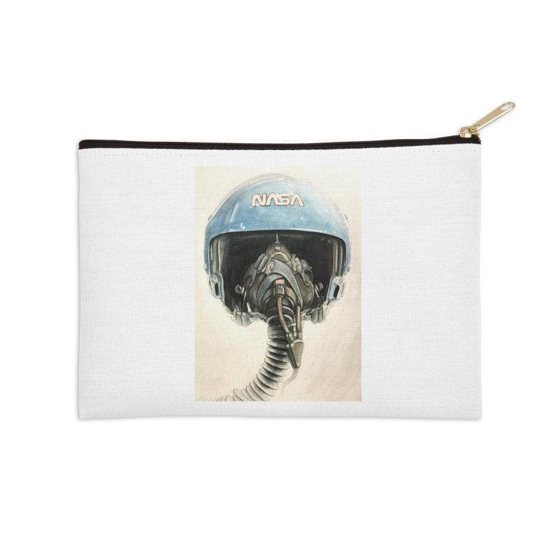 Sally Ride Aviator Helmet Accessories Zip Pouch by Photon Illustration's Artist Shop