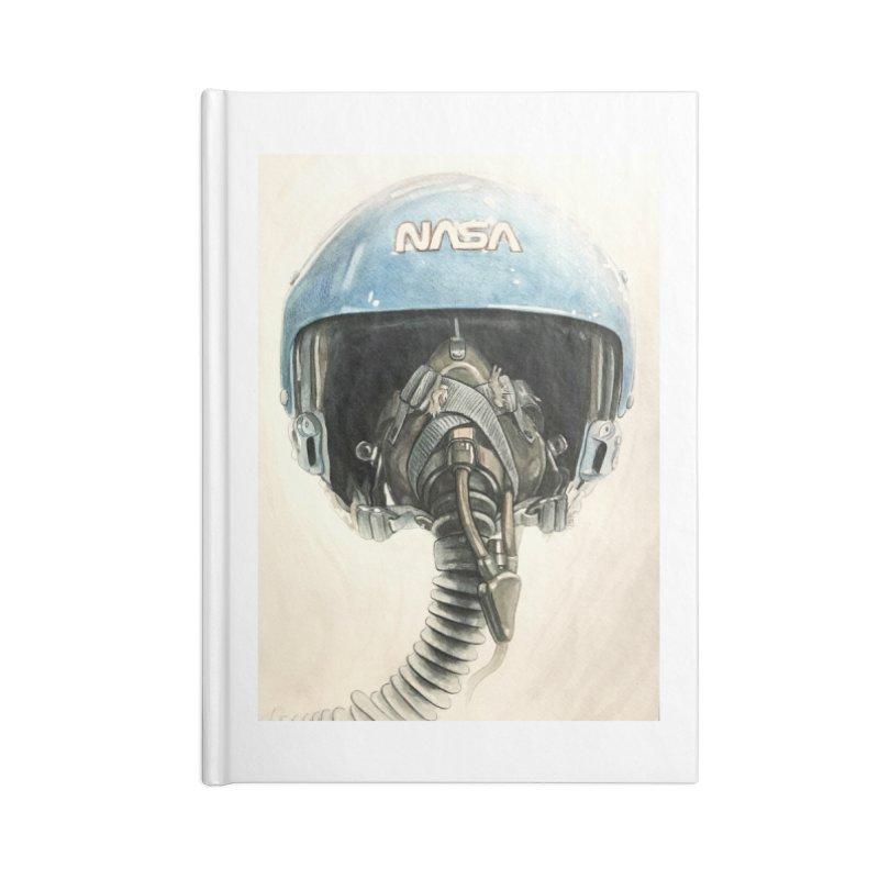 Sally Ride Aviator Helmet Accessories Notebook by Photon Illustration's Artist Shop