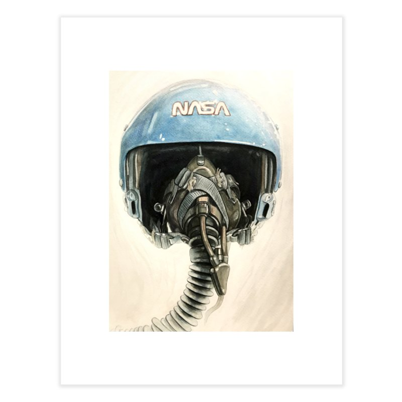 Sally Ride Aviator Helmet Home Fine Art Print by Photon Illustration's Artist Shop