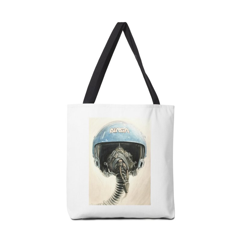 Sally Ride Aviator Helmet Accessories Bag by Photon Illustration's Artist Shop
