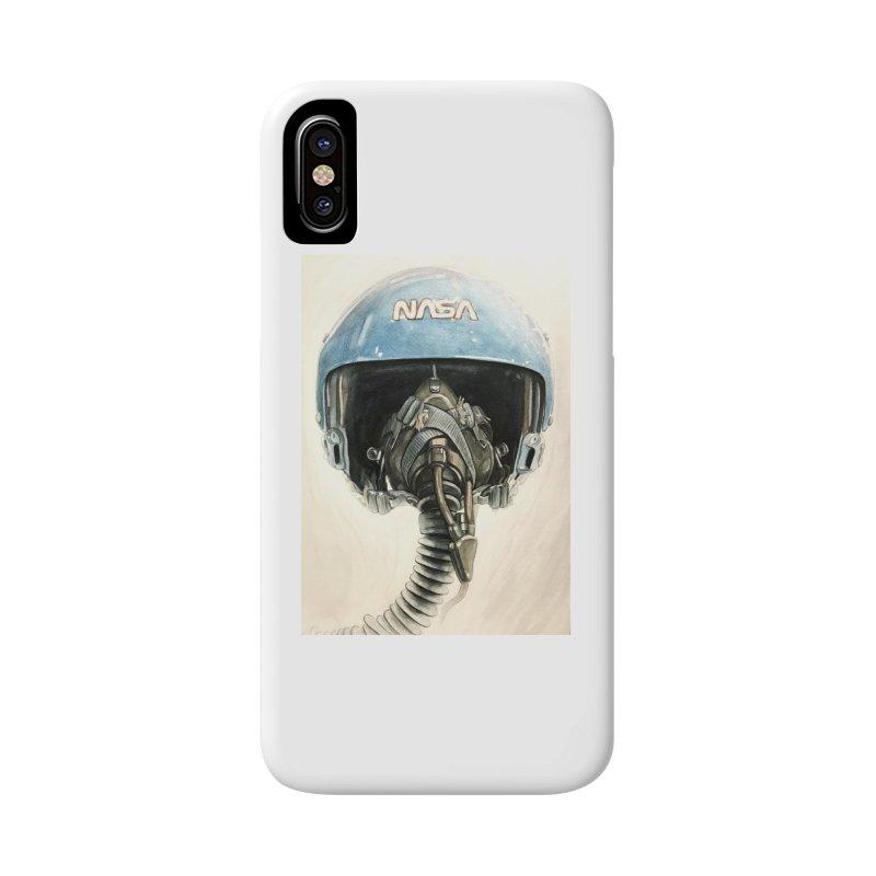 Sally Ride Aviator Helmet Accessories Phone Case by Photon Illustration's Artist Shop