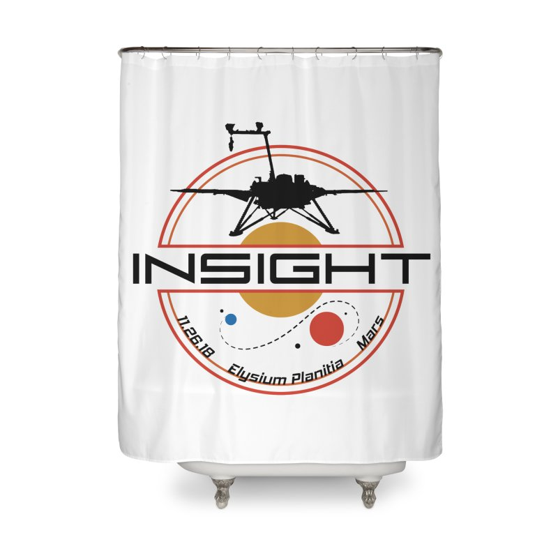 Mars InSight Home Shower Curtain by Photon Illustration's Artist Shop