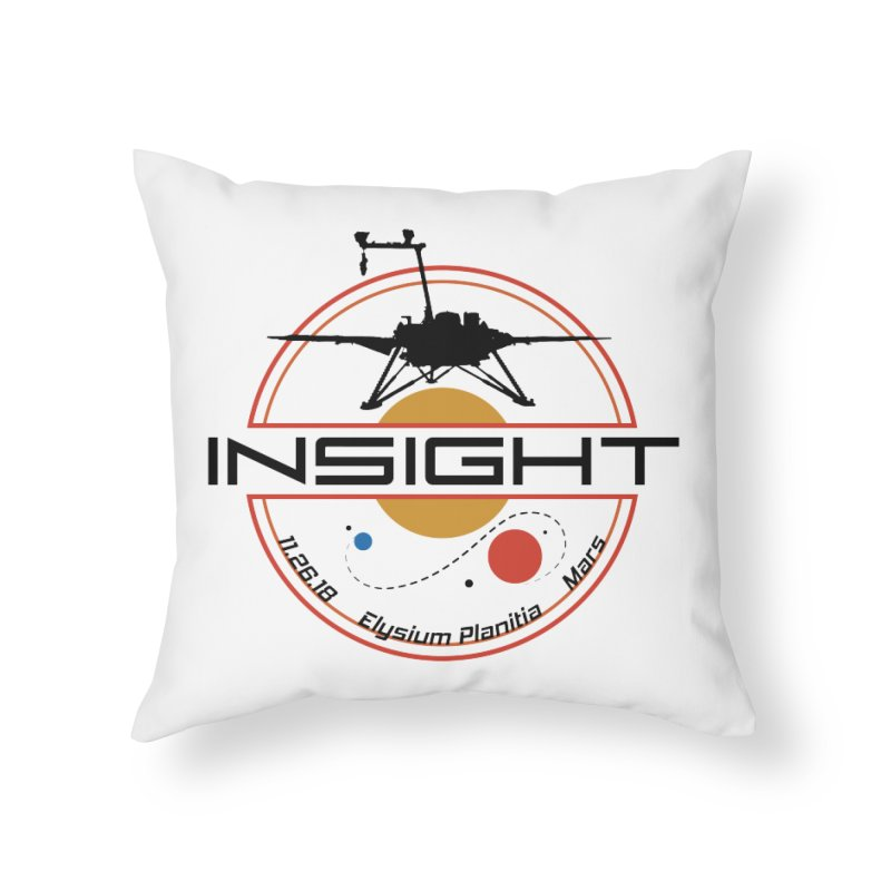 Mars InSight Home Throw Pillow by Photon Illustration's Artist Shop