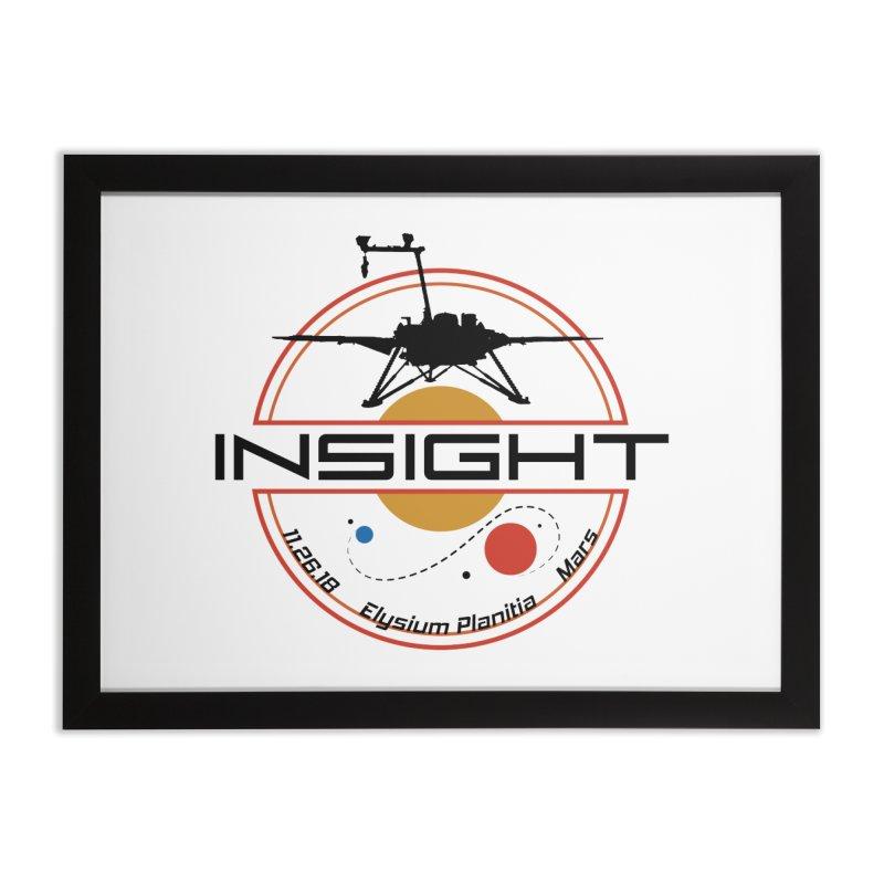 Mars InSight Home Framed Fine Art Print by Photon Illustration's Artist Shop