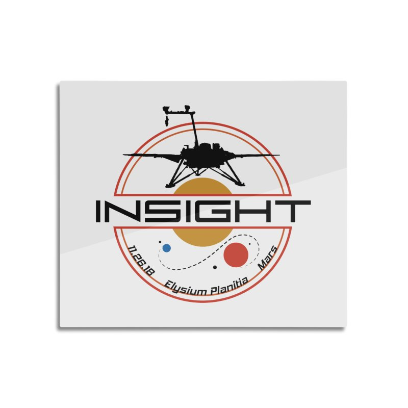 Mars InSight Home Mounted Aluminum Print by Photon Illustration's Artist Shop
