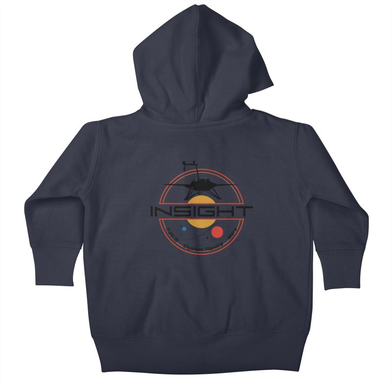 Mars InSight Kids Baby Zip-Up Hoody by Photon Illustration's Artist Shop