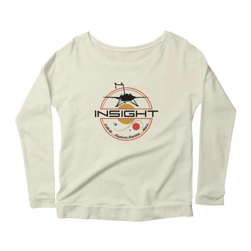 Mars InSight Women's Scoop Neck Longsleeve T-Shirt by Photon Illustration's Artist Shop