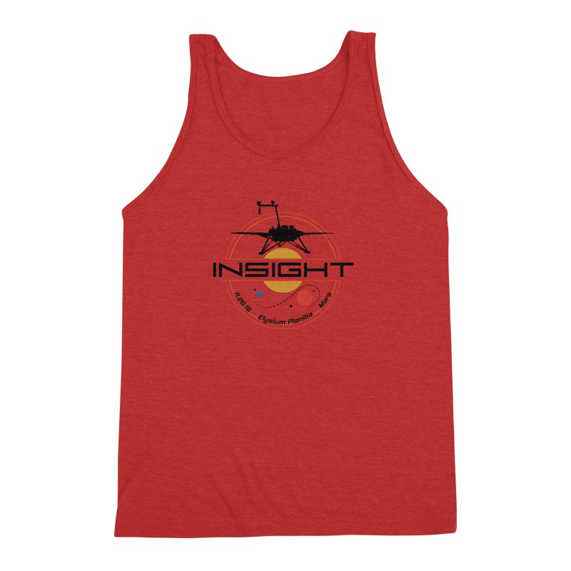 Mars InSight Men's Triblend Tank by Photon Illustration's Artist Shop