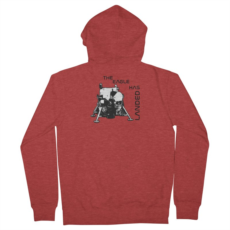 Apollo: The Eagle Has Landed Men's French Terry Zip-Up Hoody by Photon Illustration's Artist Shop