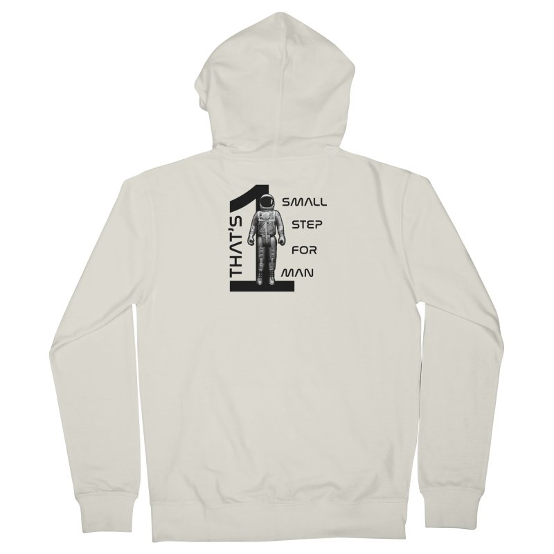 Apollo: One Small Step Men's French Terry Zip-Up Hoody by Photon Illustration's Artist Shop