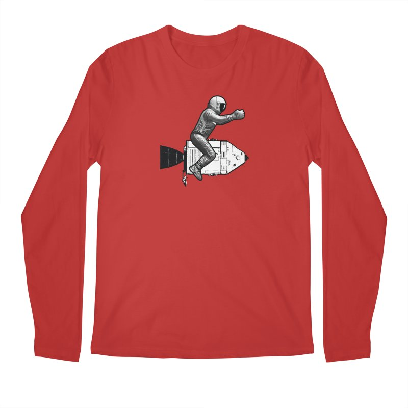 Apollo: Astronaut Cowboy Men's Regular Longsleeve T-Shirt by Photon Illustration's Artist Shop