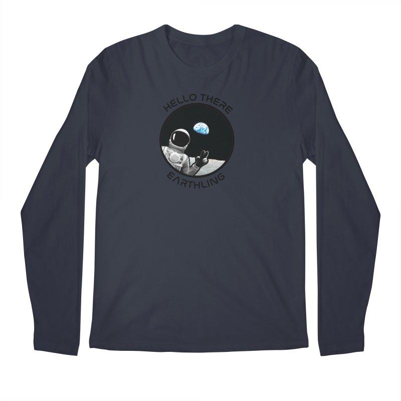 Apollo: Hello Earthling Men's Regular Longsleeve T-Shirt by Photon Illustration's Artist Shop