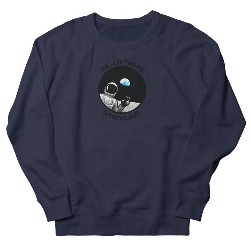 Apollo: Hello Earthling Men's French Terry Sweatshirt by Photon Illustration's Artist Shop