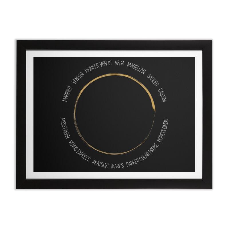 Mission: Venus Home Framed Fine Art Print by Photon Illustration's Artist Shop
