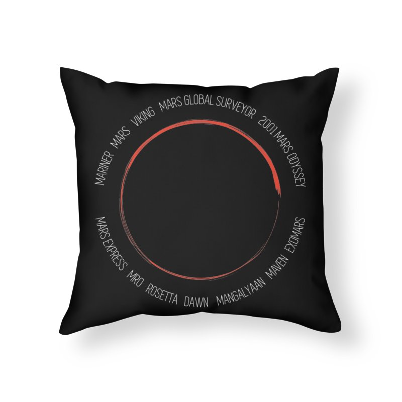 Mission: Mars Home Throw Pillow by Photon Illustration's Artist Shop
