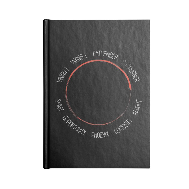 Mission: Mars on the Ground Accessories Notebook by Photon Illustration's Artist Shop
