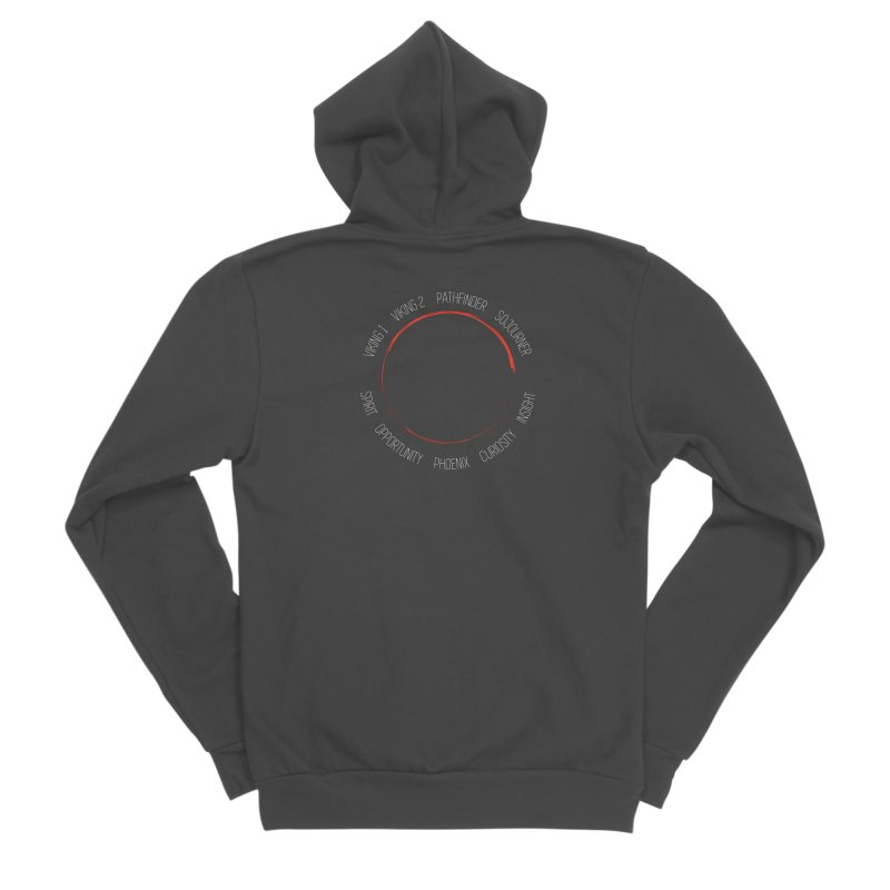 Mission: Mars on the Ground Women's Sponge Fleece Zip-Up Hoody by Photon Illustration's Artist Shop