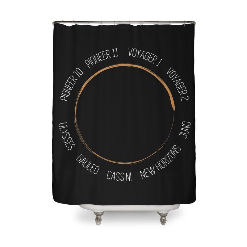 Mission: Jupiter Home Shower Curtain by Photon Illustration's Artist Shop