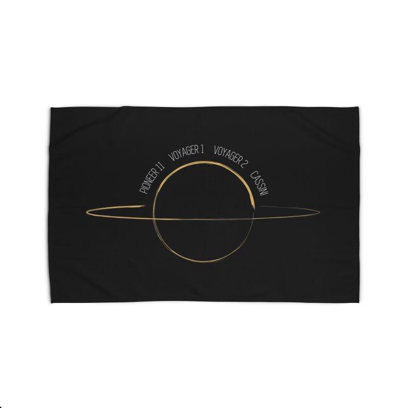Mission: Saturn Home Rug by Photon Illustration's Artist Shop