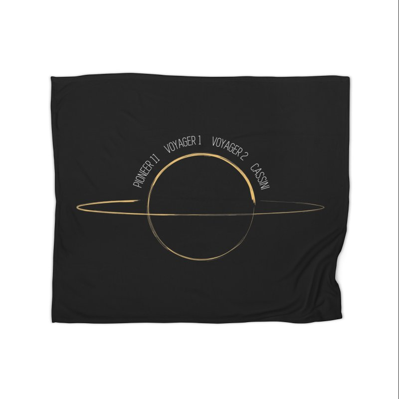 Mission: Saturn Home Blanket by Photon Illustration's Artist Shop