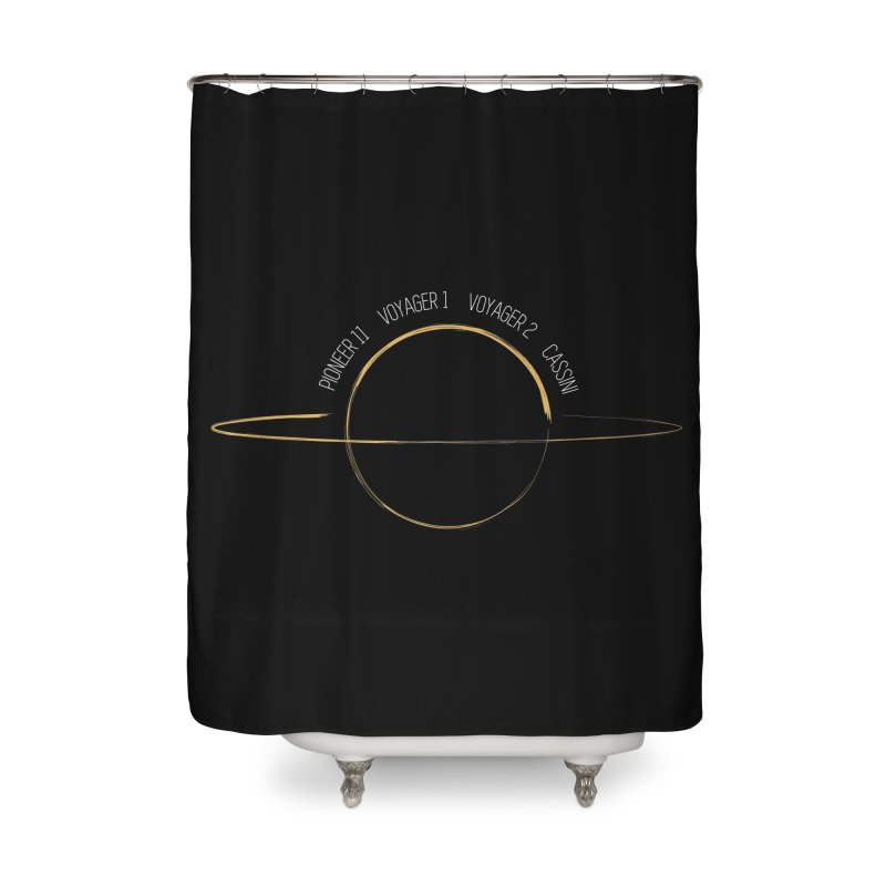 Mission: Saturn Home Shower Curtain by Photon Illustration's Artist Shop