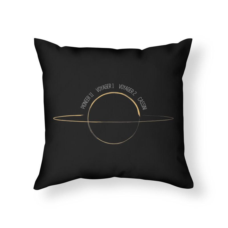 Mission: Saturn Home Throw Pillow by Photon Illustration's Artist Shop