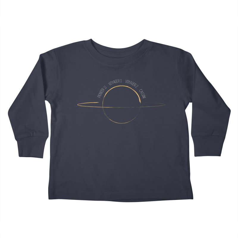 Mission: Saturn Kids Toddler Longsleeve T-Shirt by Photon Illustration's Artist Shop
