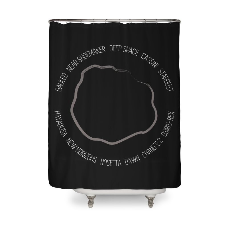 Mission: Asteroid Home Shower Curtain by Photon Illustration's Artist Shop