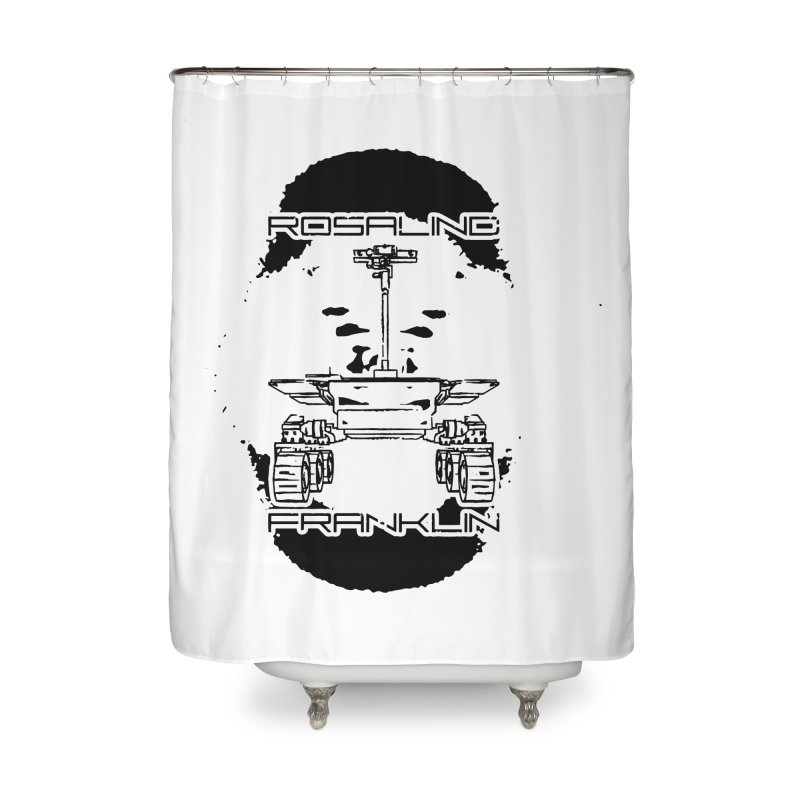 Rosalind Franklin Rover Home Shower Curtain by Photon Illustration's Artist Shop