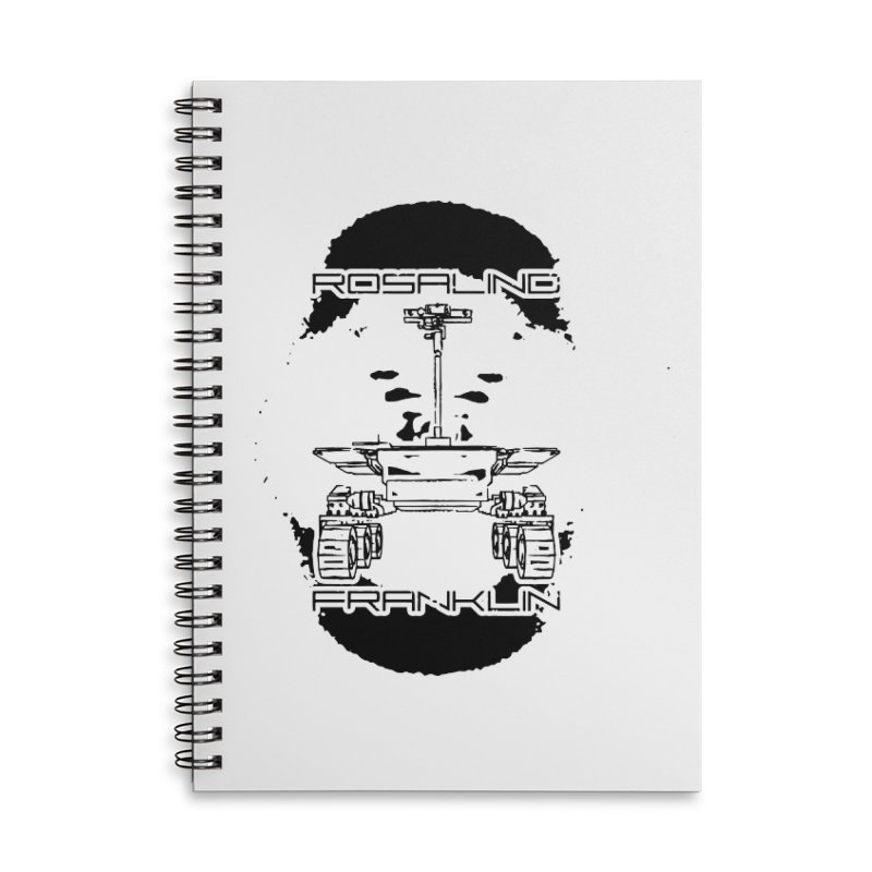 Rosalind Franklin Rover Accessories Lined Spiral Notebook by Photon Illustration's Artist Shop